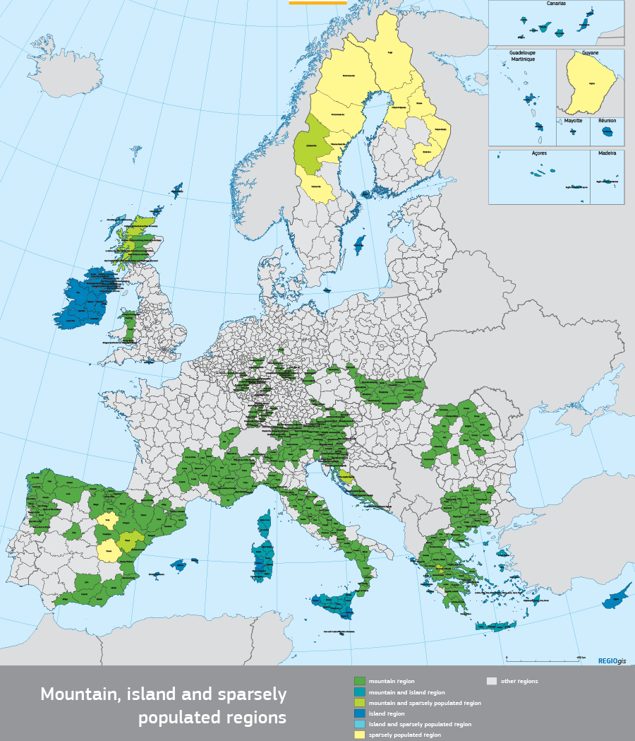 Picture of: Mountains Islands And Sparsely Populated Areas Regional Policy European Commission