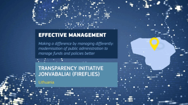 RegioStars 2016 - Transparency Initiative Jonvabaliai (Fireflies)
