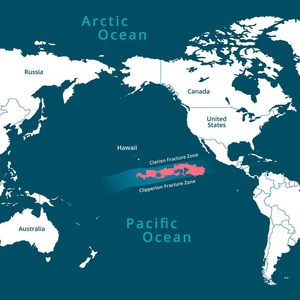 The Clarion-Clipperton zone is one of the deepest point of the Pacific Ocean. Image credit - Horizon