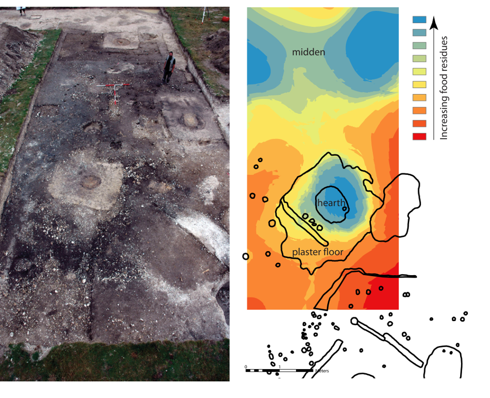 In the Neolithic settlement of Durrington Walls, in southern England, scientists have managed to use a new soil analysis technique to match particular soil properties to specific sites in the home. EU-funded archaeologist Dr Alexandre Lucquin analysed 500 soil samples from house floors of well-known Neolithic settlements near Stonehenge in England. As expected, he found that soil taken from the hearth and midden – a place used to store domestic rubbish - contained more animal fats than other areas. This res