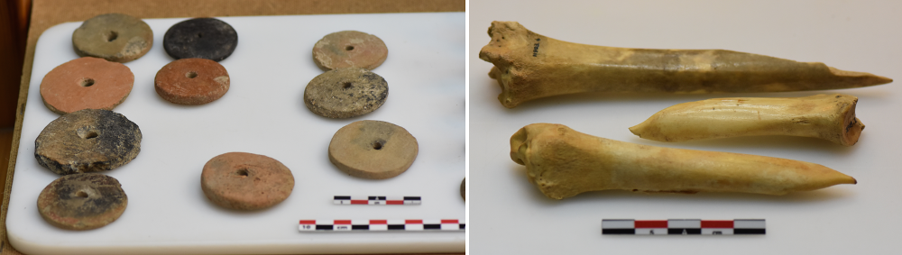 Sadly, most Neolithic fashion items perished long ago but researchers from the Centre for Textile Research at Denmark's University of Copenhagen are hopeful that they can recreate some of the textiles. Backed by an EU Marie Skłodowska-Curie grant, Dr Kalliope Sarri is analysing tools such as spindle whorls for spinning thread and animal bones used for weaving to reconstruct textiles. Images courtesy of Athens National Archaeological Museum