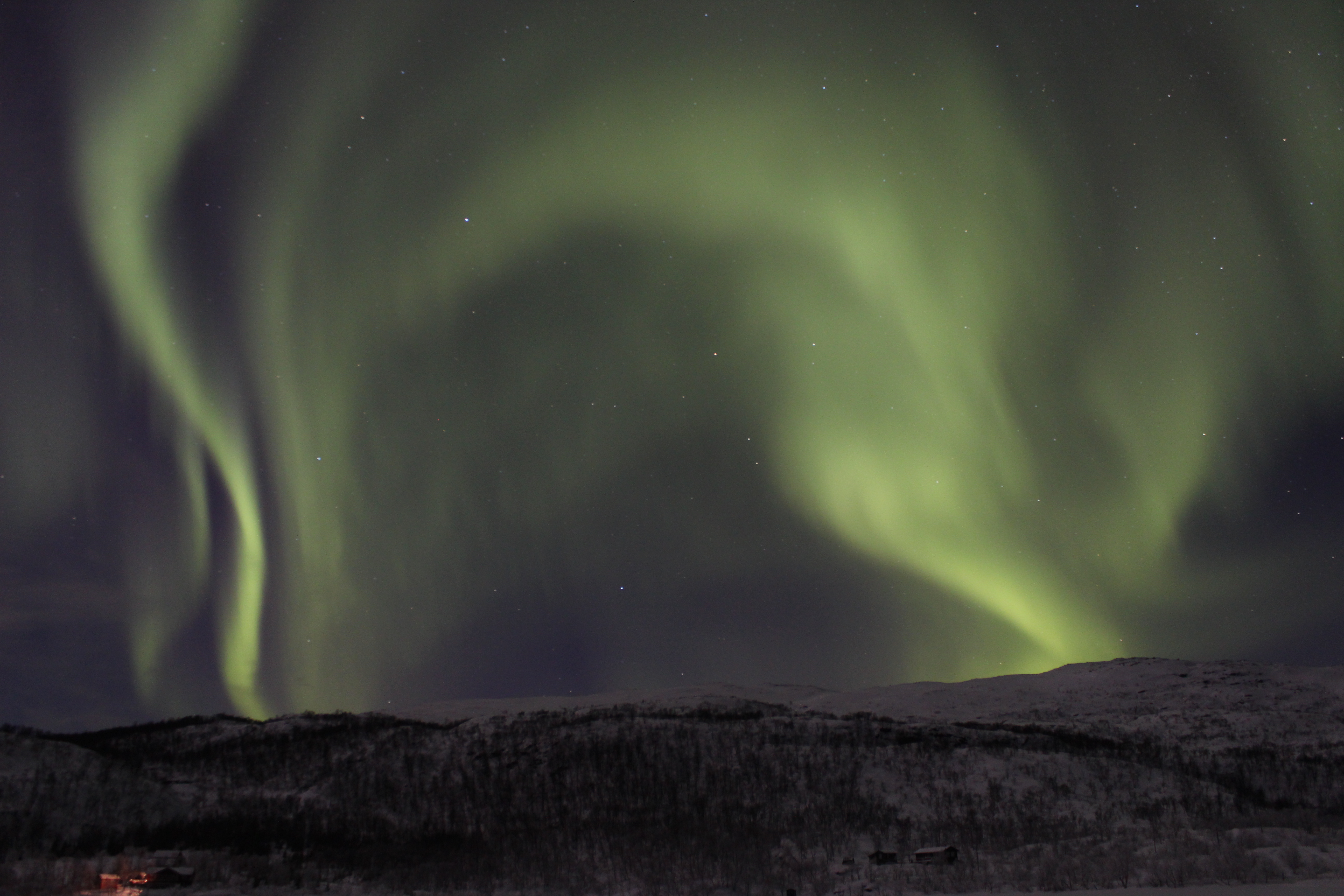The Northern Lights (also known as the aurora borealis) over Norway. Senior NASA scientists recently forecast that the current phase of solar maximum activity would reach a peak in December 2013 – producing the best conditions for seeing the Northern Lights. This is set to continue into the winters of 2014 and 2015. Image courtesy of the European Space Agency