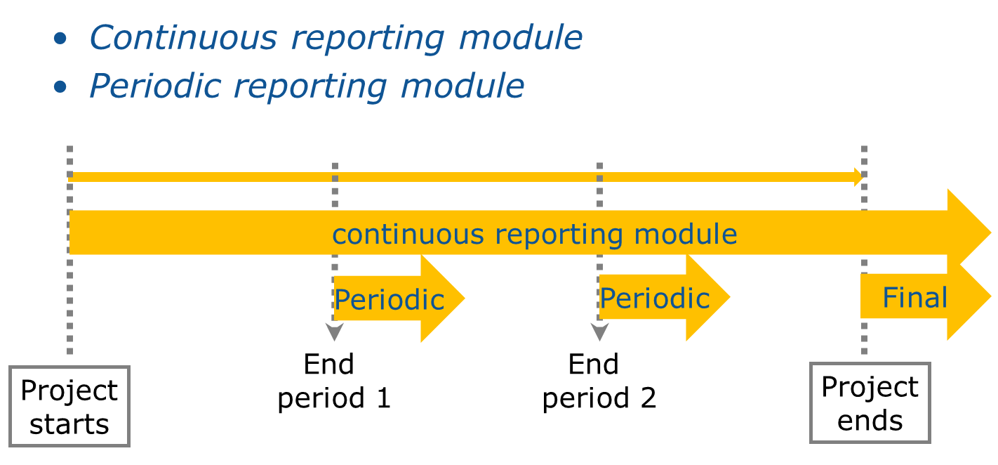 Process for continuous and periodic reporting
