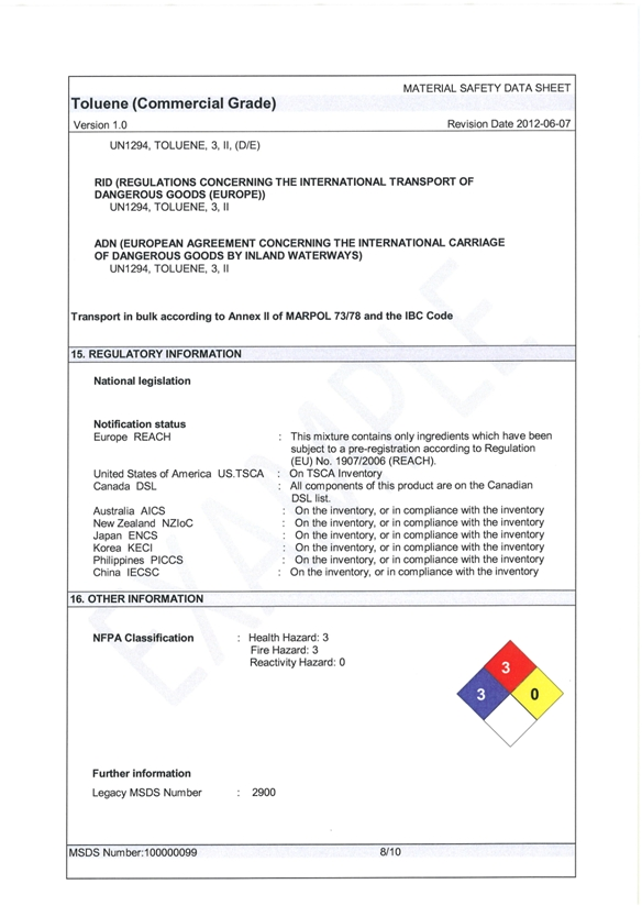 health and safety  appendix c  material safety data sheet