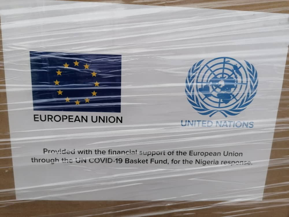 """Team Europe and the UN Hand-Over a Second Batch of Medical Supplies to the Nigerian Government to Further Enhance the COVID-19 Response"