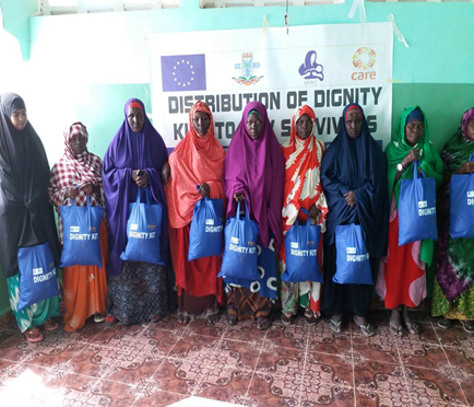 Distribution of dignity kits to GBV survivors from various IDP camps in South Galckayo.