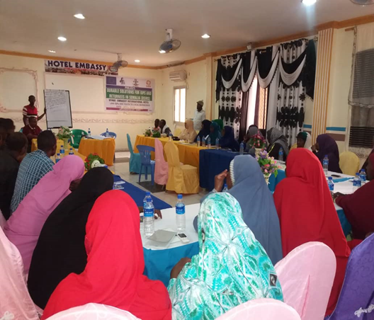Gender-based violence Forum held for IDPs, Youth and local business community in South Galckayo