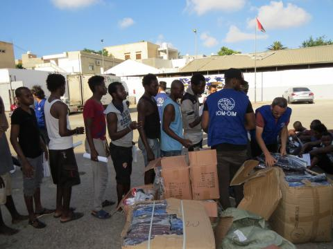 Stranded migrants from Guinea Conakry received return assistance home today through the UE-IOM Initiative