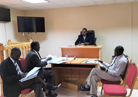 Sudanese Judges and prosecutors are simulating a human trafficking trial in Khartoum