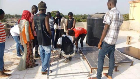 Gambian youth trained in the areas of solar and satellite systems and CCTV