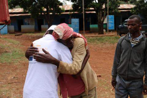 Father and son reunion facilitated by EU-IOM Joint Initiative in Oromia, Ethiopia