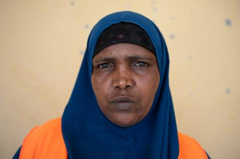 Anab Mohamed Said, a returnee to Somalia, speaks about the cash-for-work projects - @IOM/Christian Jepsen
