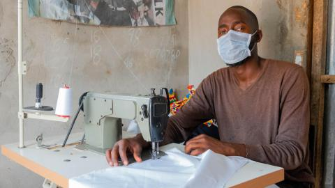 Gambian Returnees Produce Protective Equipment for COVID-19 Frontline Border Officials