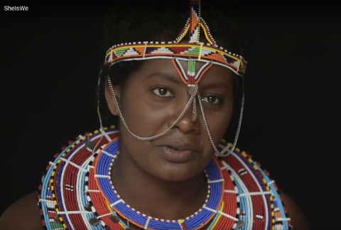 Nice Nailantei Leng'ete, FGM Activist, presents her vision of SheIsWe - @European Union