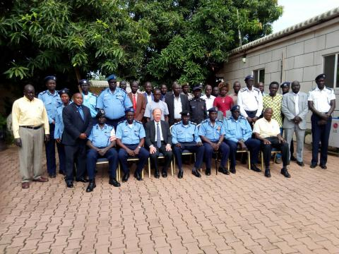 Participants of the workshop for border agencies held at Nimule on 23-24 May 2018.