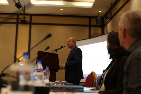 "EU Ambassador to Djibouti Adam Kulach speaking at the ""Regional Conference on the Protection of Child Migrants in the Horn of Africa"", Djibouti, 12 & 13 March 2018"