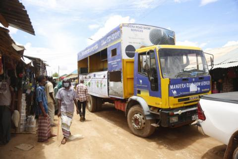 Over 15,000 residents across the three RASMI target countries were reached with COVID-19 and peace messages shared by boundary partners and public health officials through roadshow caravans.