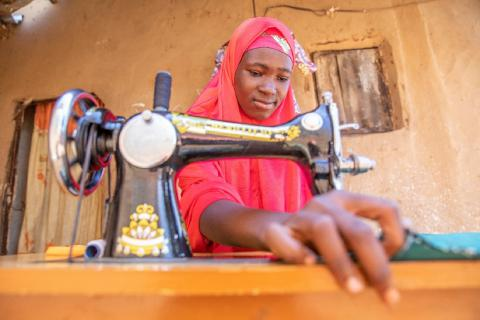 In Nigeria, Rafiatu wants to be educated and self-sufficient so she can set a good example for others