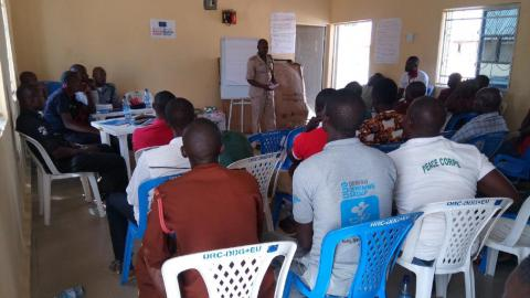 Training on Early Warning and Early Response (EWER) procedures facilitated by five Government Security Agencies in Hurda community, Mubi North LGA, Adamawa State. November 2018