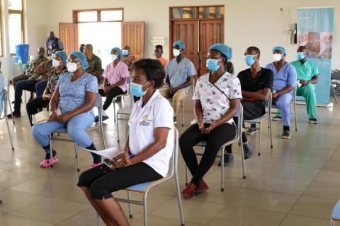 IOM Supports Returnees and Migrant Quarantine Centre with Protective Equipment and Psychosocial Support Training in Ghana