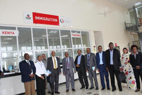 Sudanese officials from the relevant ministries followed an operation of the Kenyan National Coordination Mechanism in Namanga, at the border with Tanzania